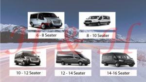 Rotherham minibus Hire 8 to 16 Seater minibus